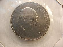 1965 Winston Churchill Comm. Crown Coin