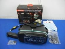 ReTrak Utopia 360 Immersive Experience Bundle, Virtual Reality 3D Headset w/ Controller and Bluetooth Earbuds