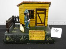 Cast Iron Reproduction Uncle Remus Bank 136