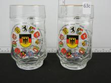 2 Bundesrepublik Deutschland Beer Mugs