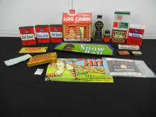 Lot of Vintage Advertising Items including Tin Spice Cans, Can Labels and others