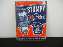 Stumpy Pete's Ham Tin Sign 16