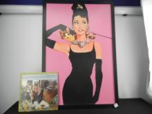 Audrey Hepburn Art Print in Frame Approx. 38