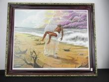 Footprints by Lester Kern Print in Frame Approx. 29