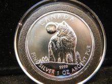 2011 Canadian $5 1OZ .999 Fine Silver