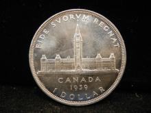 1939 Canadian Silver Dollar High Grade