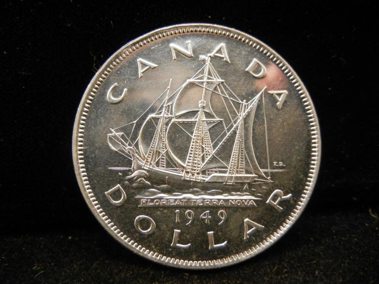 1949 Canadian Silver Dollar High Grade Better Date
