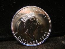 1999 Canadian $5 1OZ .999 Fine Silver