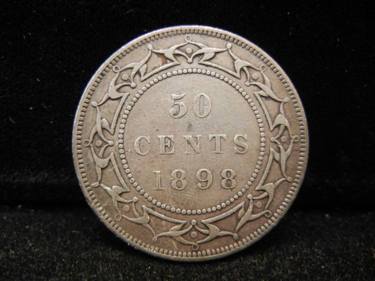 1898  Newfoundland 50 Cents Silver Rare 76,607 Minted