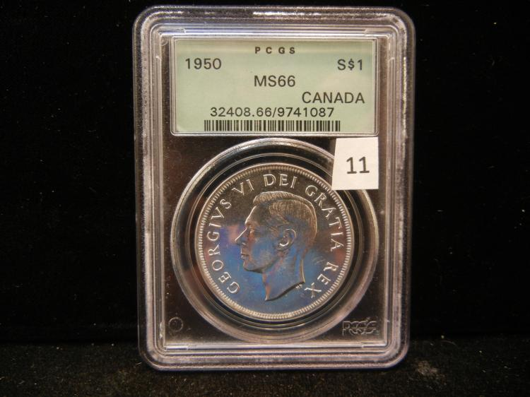 1950 Canadain Silver Dollar PCGS MS66 Key Date Only 261,002 Minted