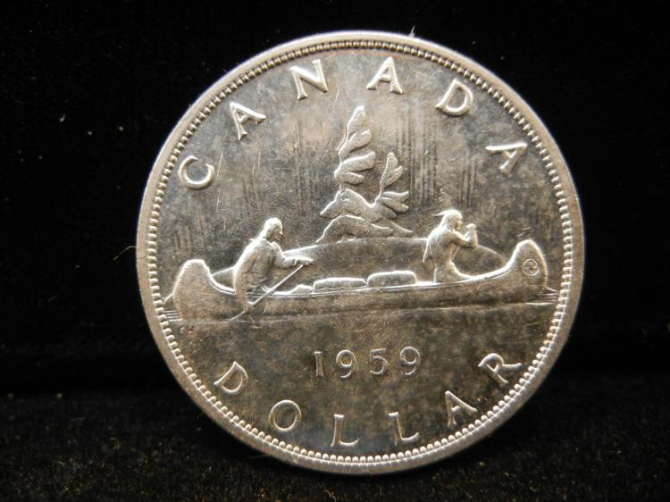 1959 Canadian Silver Dollar High Grade
