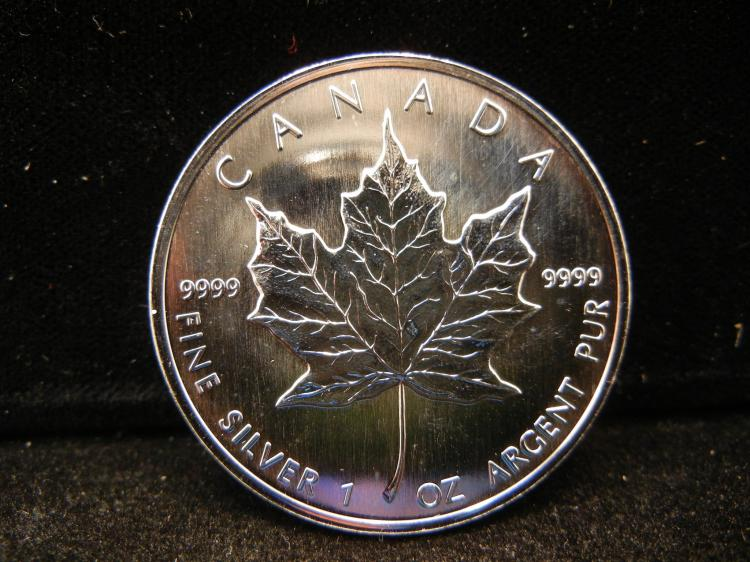 1997 Canadian $5 1OZ .999 Fine Silver Rare Only 100,970 Minted