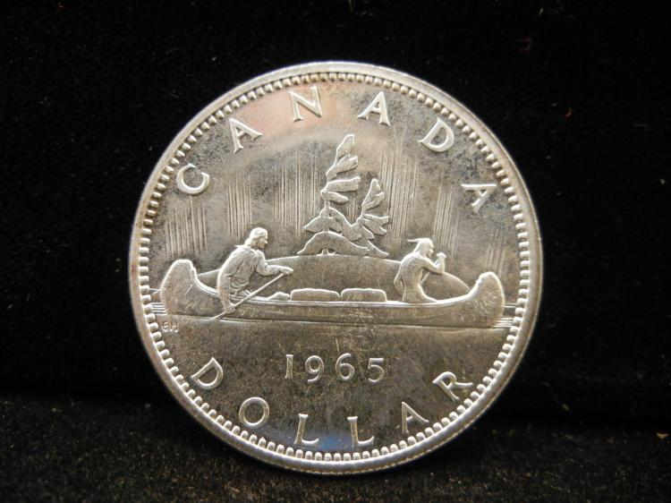1965 Canadian Silver Dollar Type 1 High Grade