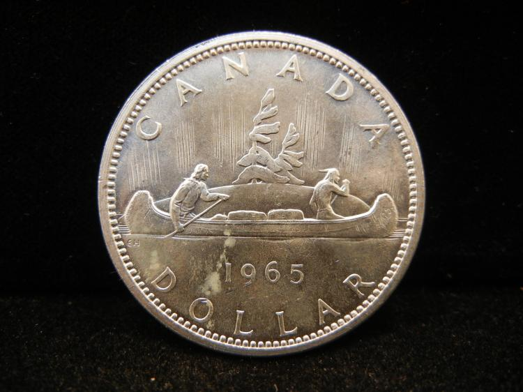 1965 Canadian Silver Dollar Type 2 High Grade