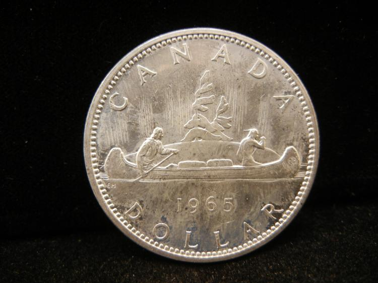 1965 Canadian Silver Dollar Type 3 High Grade
