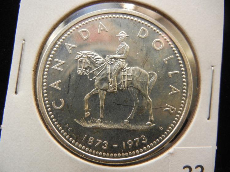 1973 Canadian Silver Dollar High Grade