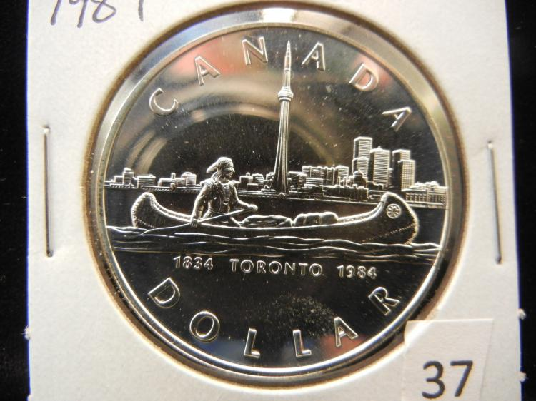 1984 Canadian Silver Dollar High Grade Toronto