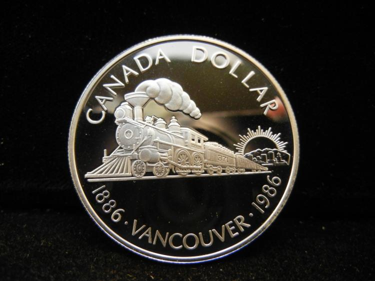 1986 Canadian Silver Dollar High Grade Vancouver