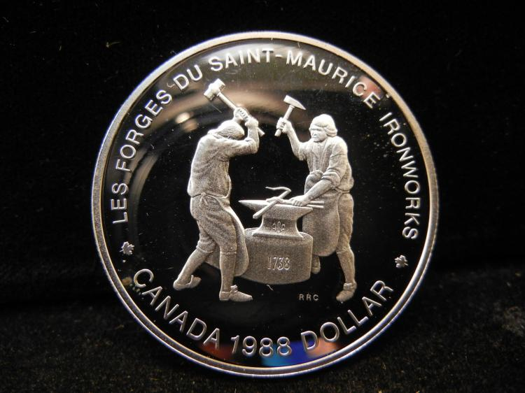 1988 Canadian Silver Dollar High Grade Maurice Ironworks