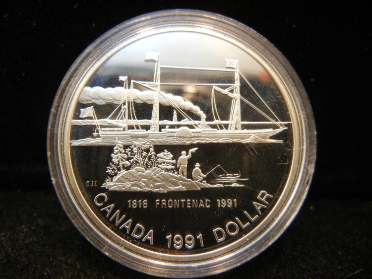 1991 Canadian Silver Dollar High Grade Frontenac