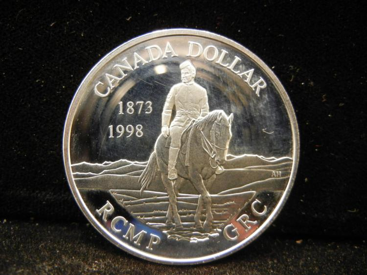 1998 Canadian Silver Dollar High Grade RCMP GRC