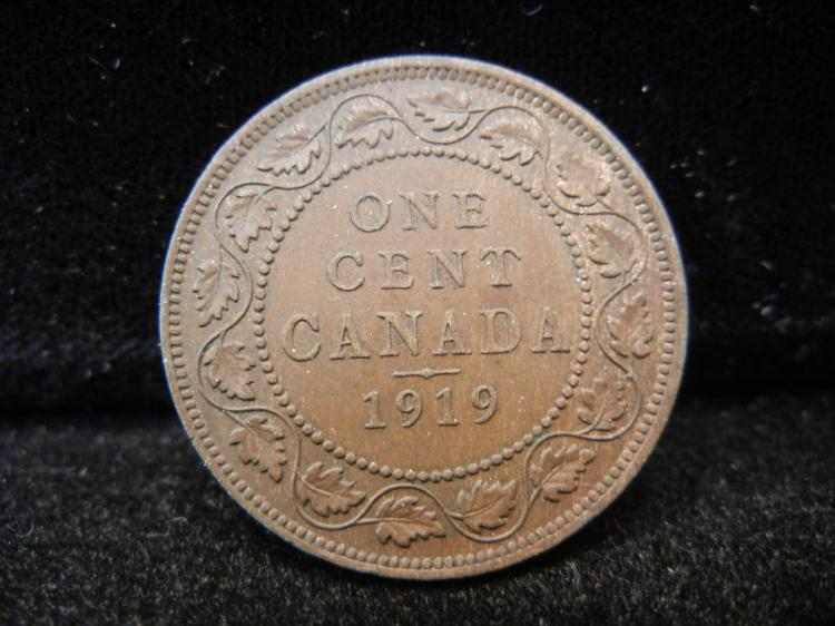 1919 Canadian Large Cent