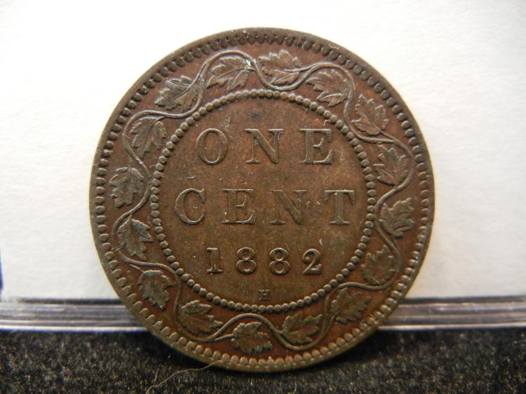 1882 H Canadian Large Cent