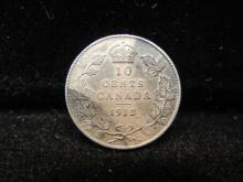 1912 Canadian 10 Cents