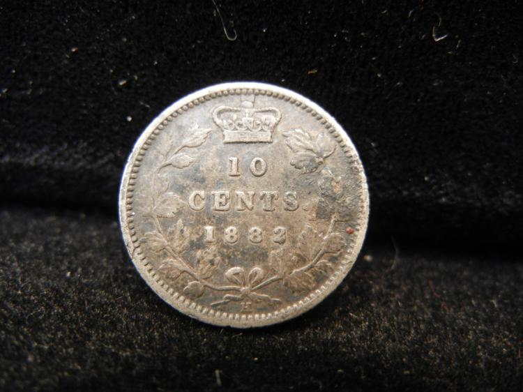 1882 H Canadian 10 Cents