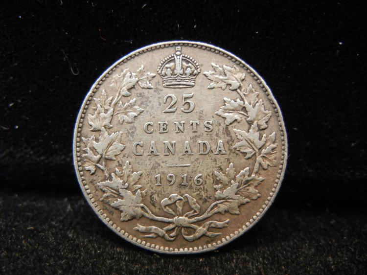 1916 Canadian 25 Cents