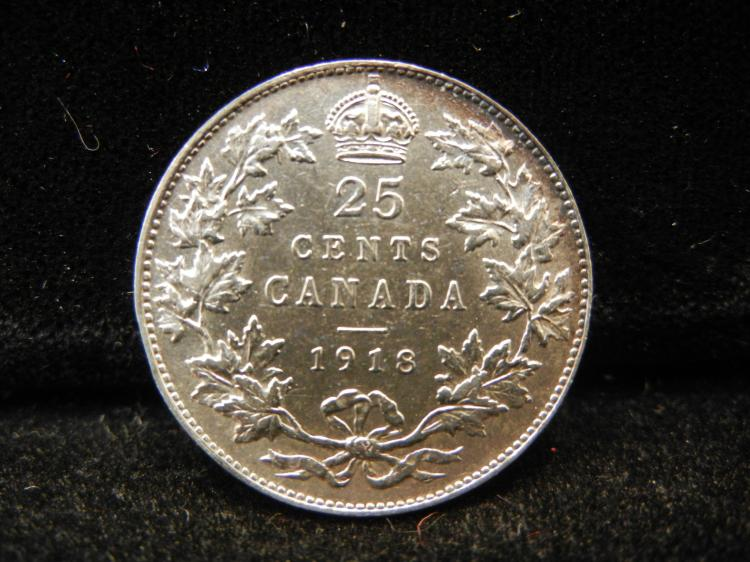 1918 Canadian 25 Cents