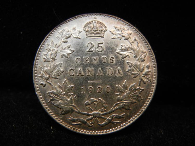 1930 Canadian 25 Cents