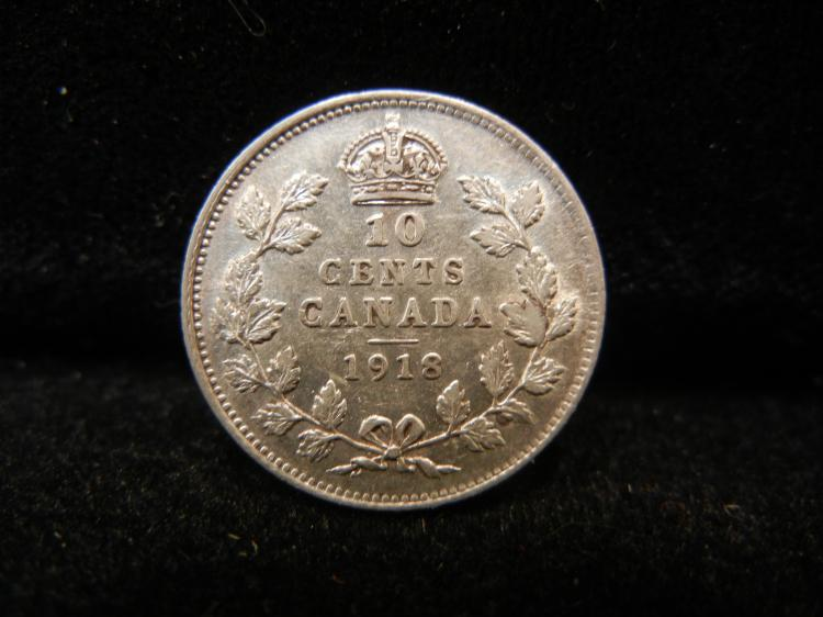 1918 Canadian 10 Cents