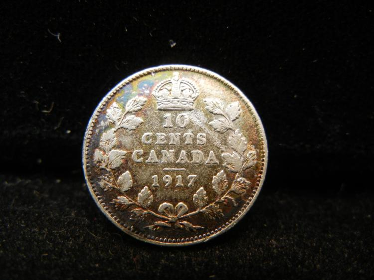 1917 Canadian 10 Cents