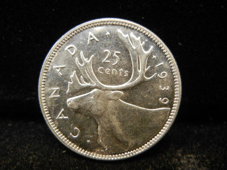 1939 Canadian 25 Cents