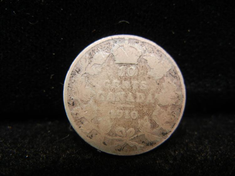 1910 Canadian 10 Cents