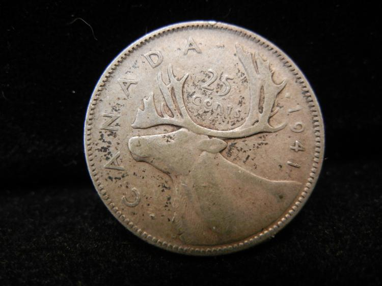 1941 Canadian 25 Cents