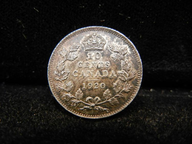 1920 Canadian 10 Cents