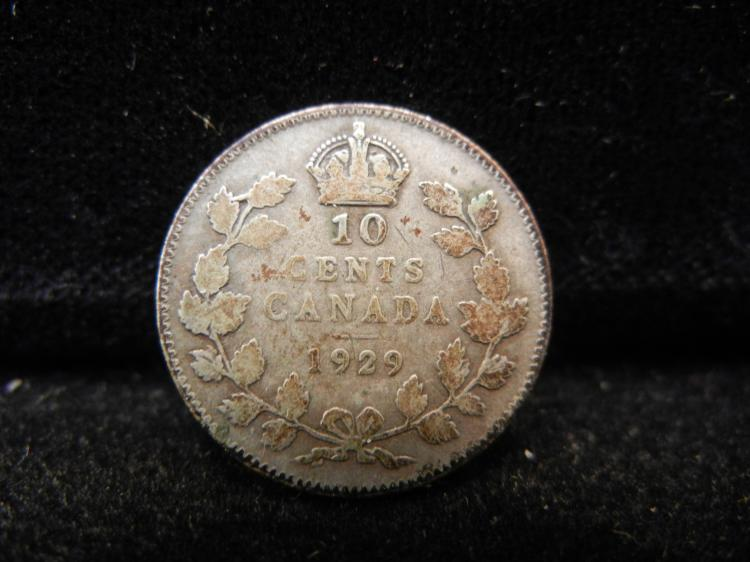 1929 Canadian 10 Cents