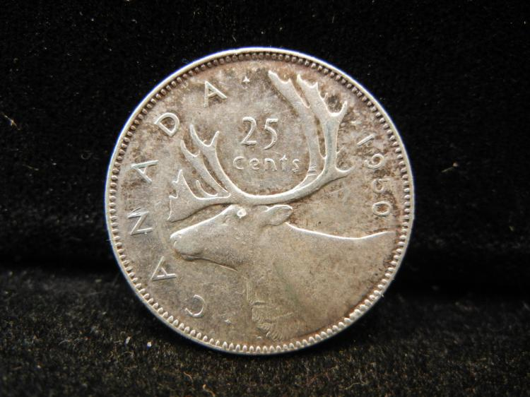 1950 Canadian 25 Cents