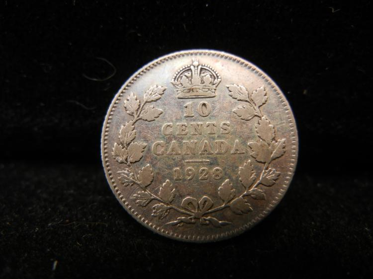 1928 Canadian 10 Cents