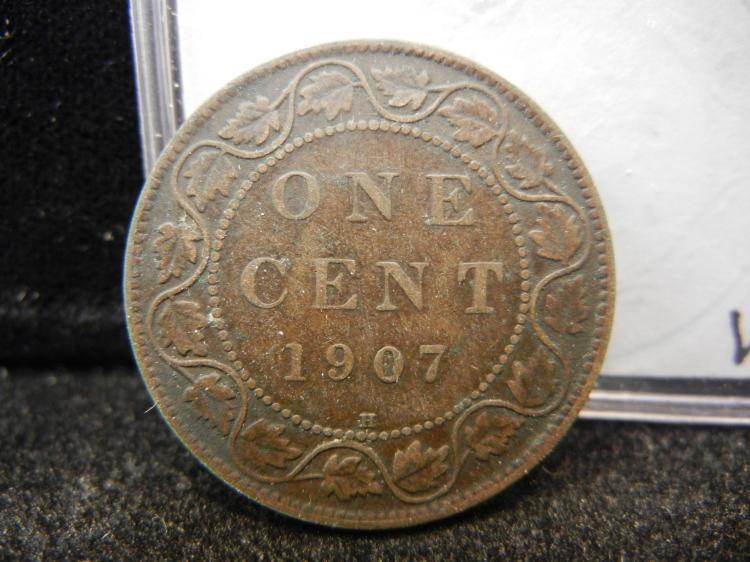 1907 H Canadian Large Cent Better Date