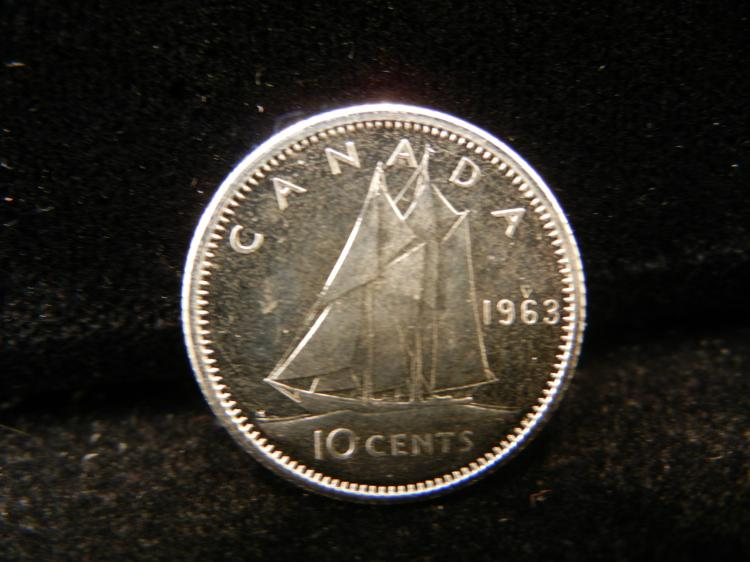 1963 Canadian 10 Cents