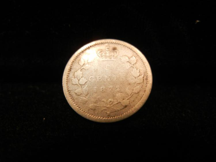 1872 Canadian 5 Cents Silver