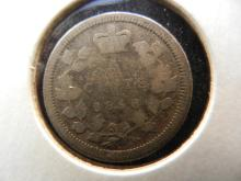 1858 Canadian 5 Cents Silver