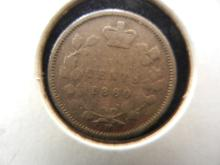 1880 H Canadian 5 Cents Silver