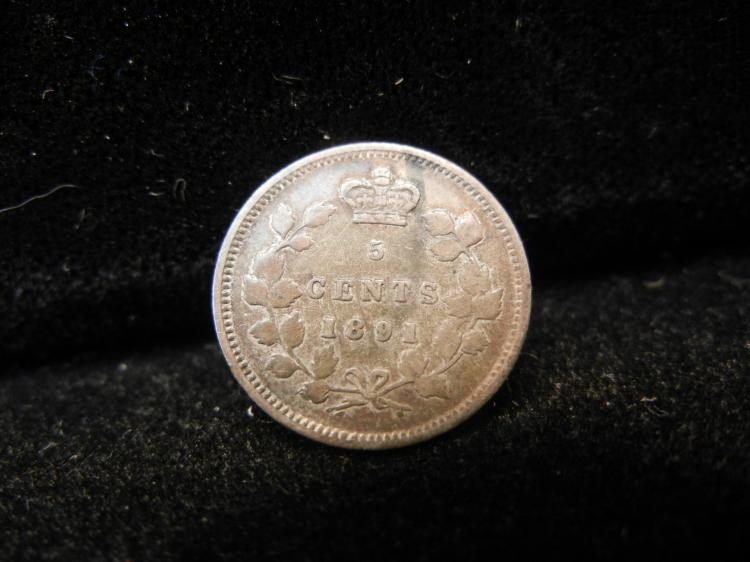 1891 Canadian 5 Cents Silver