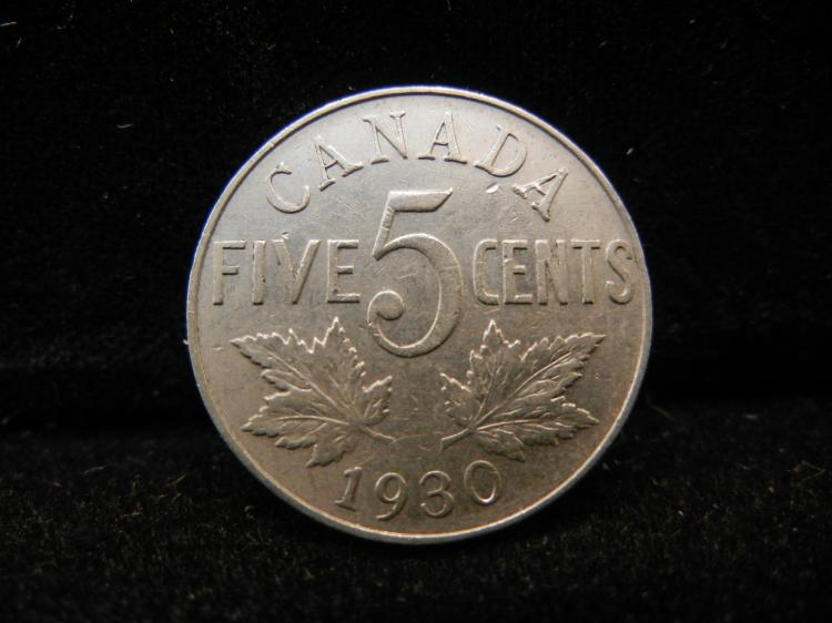 1930 Canadian 5 Cents
