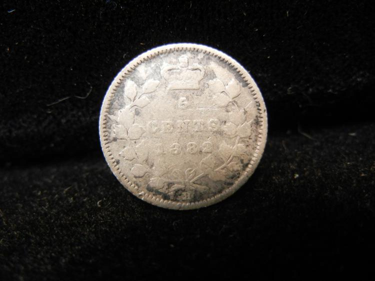1882 H Canadian 5 Cents Silver