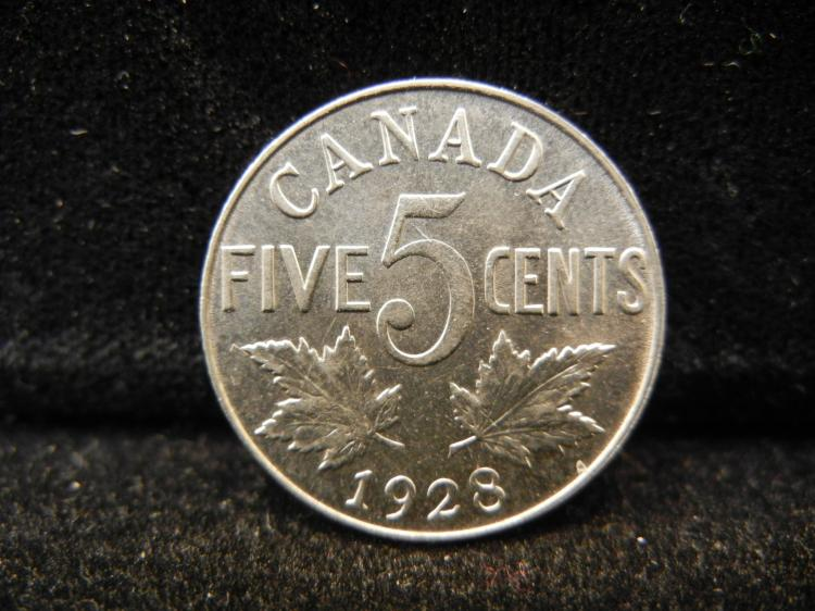 1928 Canadian 5 Cents